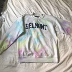 Pastel Tie Dyed Belmont Scoop Neck Sweatshirt